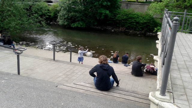 Wuppertreppe am Islandufer in Wuppertal-Elberfeld