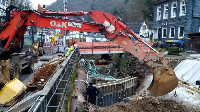 Bauarbeiten am Eschbach, Jan. 2018