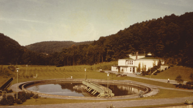 Kl�ranlage Burg 1965