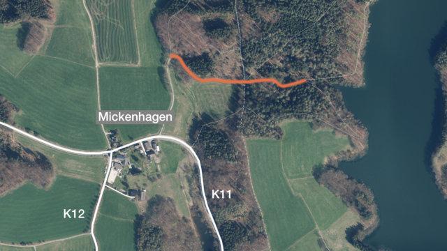 Wanderweg - Hückeswagen / Mickenhagen