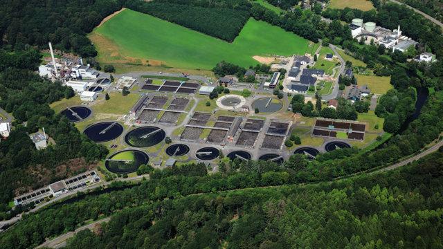 Kläranlage Buchenhofen, Luftbild: Peter Sondermann